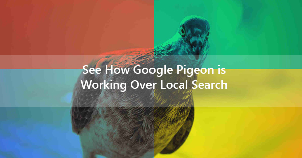 See How Google Pigeon is Working Over Local Search